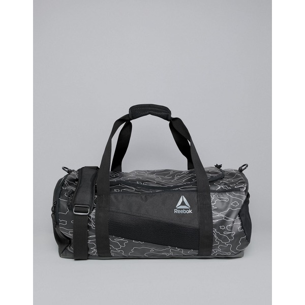 リーボック メンズ ボストンバッグ バッグ Reebok Training Active Enhanced 48L Holdall Bag In Black Camo Print CZ9816 Black