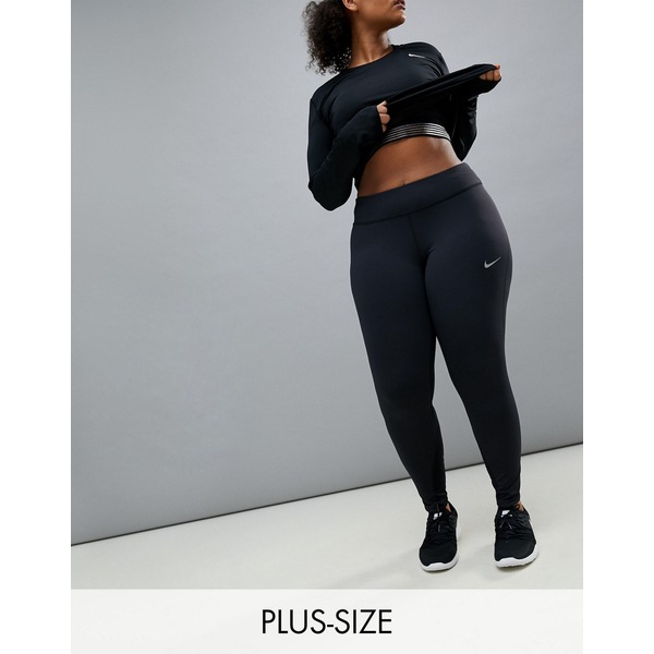 ナイキ レディース レギンス ボトムス Nike Plus Running Power Epic Luxe Leggings In Black Black/(reflective si