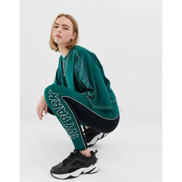 アイビーパーク レディース レギンス ボトムス Ivy Park Active Colourblock Leggings In Green Forest green