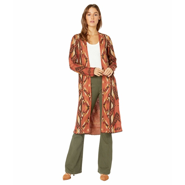 ニット&セーター 46-6263 ロックアンドロールカウボーイ アウター Aztec Duster レディース Copper Sweater