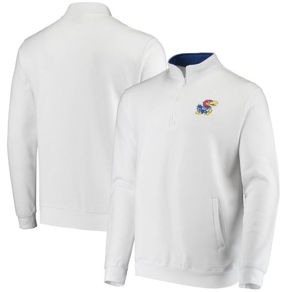 コロシアム メンズ ジャケット&ブルゾン アウター Kansas Jayhawks Colosseum Tortugas Logo QuarterZip Jacket Black