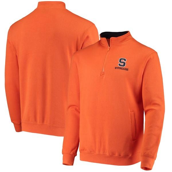 コロシアム メンズ ジャケット&ブルゾン アウター Syracuse Orange Colosseum Tortugas Logo QuarterZip Pullover Jacket Heathered Gray