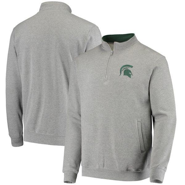 コロシアム メンズ ジャケット&ブルゾン アウター Michigan State Spartans Colosseum Tortugas Logo QuarterZip Jacket Black