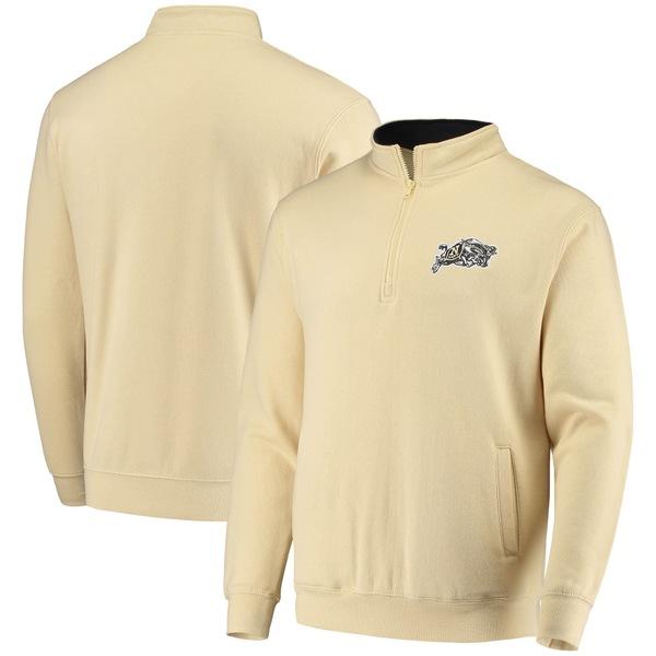 コロシアム メンズ ジャケット&ブルゾン アウター Navy Midshipmen Colosseum Tortugas Logo QuarterZip Jacket Gold