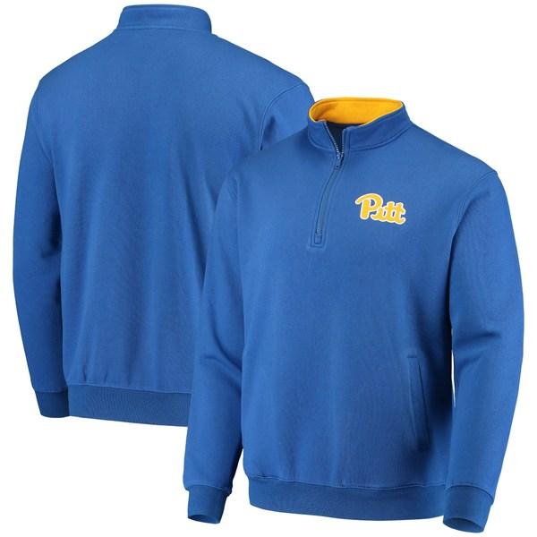 コロシアム メンズ ジャケット&ブルゾン アウター Pitt Panthers Colosseum Tortugas Logo QuarterZip Jacket Charcoal