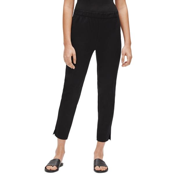 エイリーンフィッシャー レディース カジュアルパンツ ボトムス Organic Stretch Cotton Slit Hem Ankle Pants Black