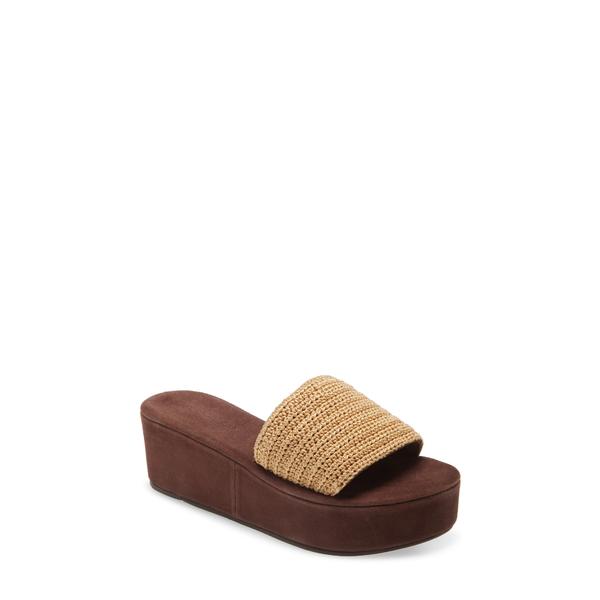 ジェフリー キャンベル レディース サンダル シューズ Mix-Up Platform Slide Sandal Natural