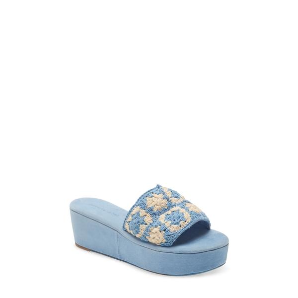 ジェフリー キャンベル レディース サンダル シューズ Mix-Up Platform Slide Sandal Blue Ivory