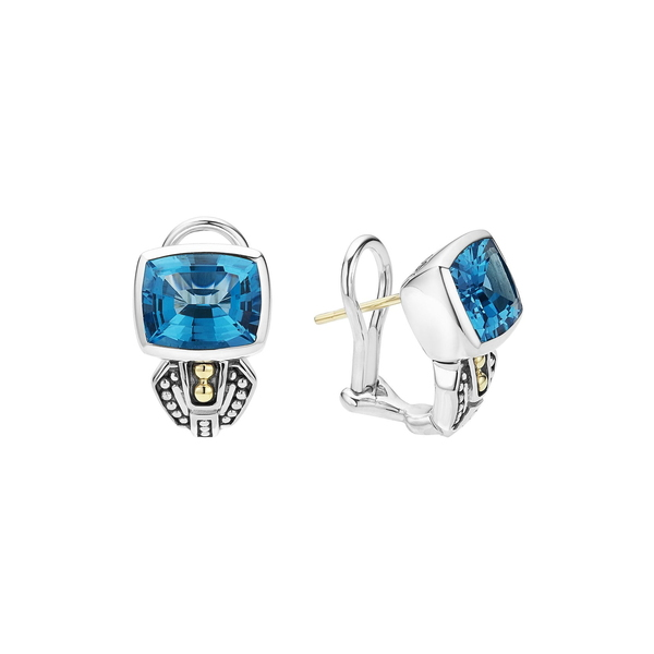 ラゴス レディース ピアス&イヤリング アクセサリー 'Caviar Color' Semiprecious Stone Stud Earrings Blue Topaz