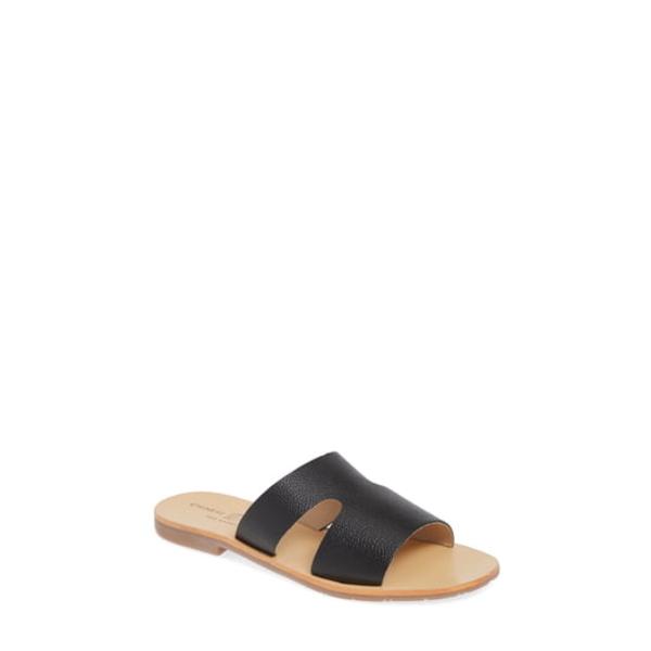 チャイニーズランドリー レディース サンダル シューズ Mannie Slide Sandal Black Leather