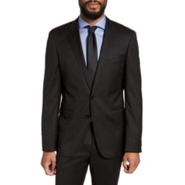 ボス メンズ ジャケット&ブルゾン アウター Ryan CYL Extra Slim Fit Solid Wool Blazer Black