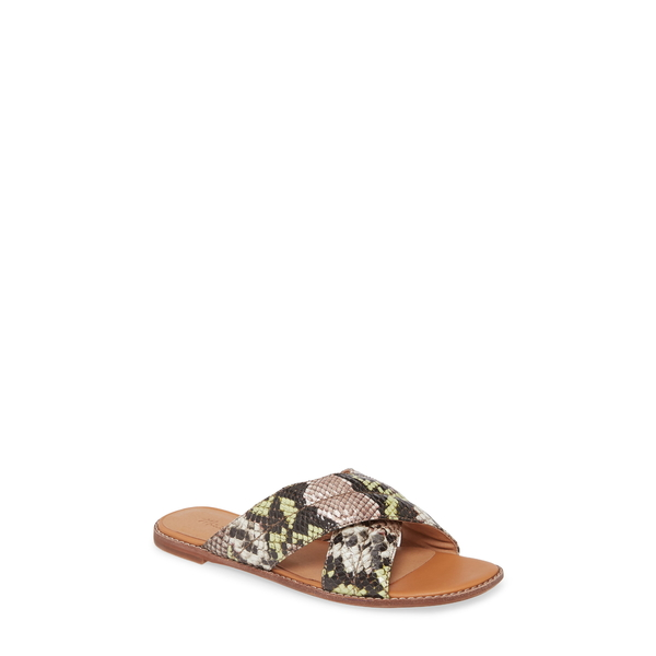 メイドウェル レディース サンダル シューズ The Skyler Slide Sandal Mint/ Cream Snake Print