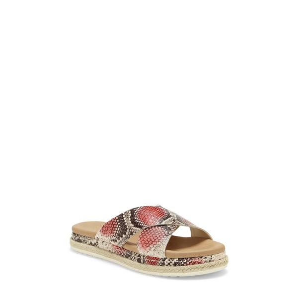 ヴィンスカムート レディース サンダル シューズ Rickert Slide Sandal Coral Snake Print Leather