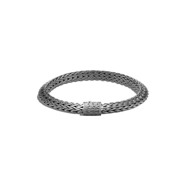 ジョン・ハーディー メンズ ブレスレット・バングル・アンクレット アクセサリー Men's Tiga Chain 8mm Bracelet Black Rhodium