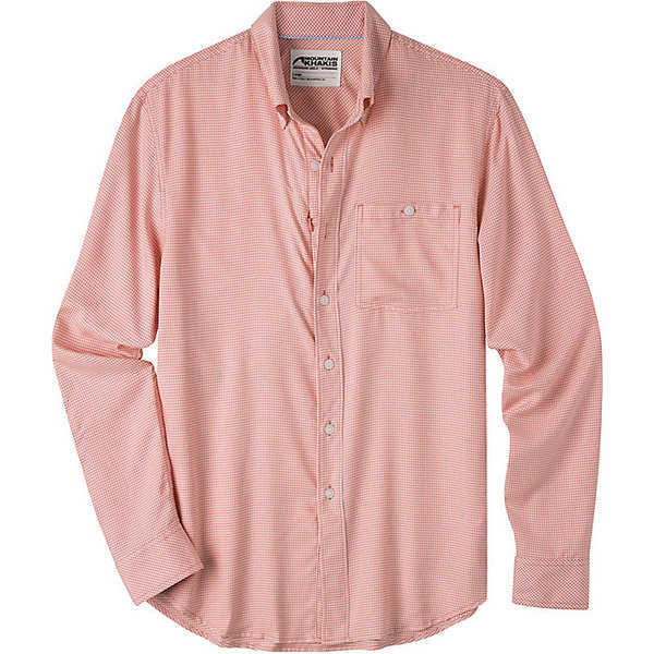 マウンテンカーキス メンズ シャツ トップス Mountain Khakis Men's Passport EC LS Shirt Summer Red