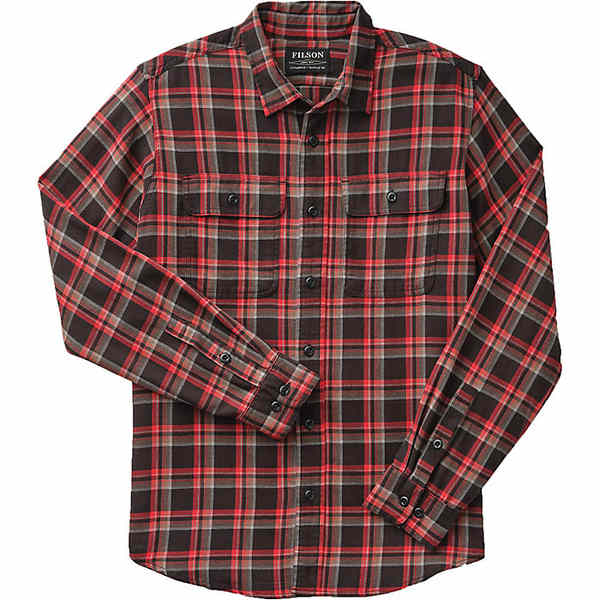 フィルソン メンズ シャツ トップス Filson Men's Washed Scout Shirt Black / Red / Brown Plaid