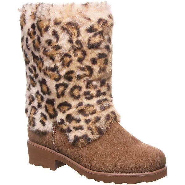 ベアパウ レディース ブーツ&レインブーツ シューズ Bearpaw Women's Regina Boot Hickory Leopard
