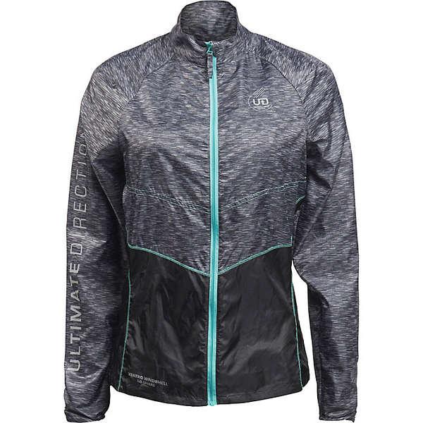 ウルティメートディレクション レディース ジャケット&ブルゾン アウター Ultimate Direction Women's Ventro Windshell Jacket Heather Gray