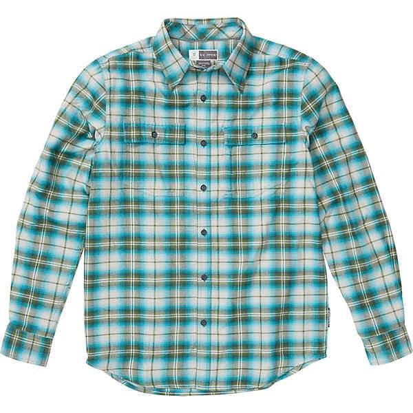 エクスオフィシオ メンズ シャツ トップス ExOfficio Men's BugsAway Redding Midweight Flannel LS Shirt Algiers Blue