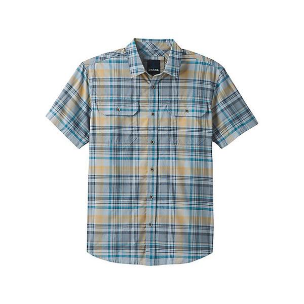 プラーナ メンズ シャツ トップス Prana Men's Cayman Plaid Shirt Rain