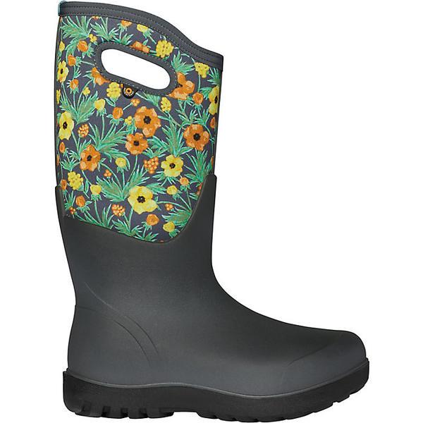 ボグス レディース ブーツ&レインブーツ シューズ Bogs Women's Neo Classic Tall Vine Floral Boot Grey Multi