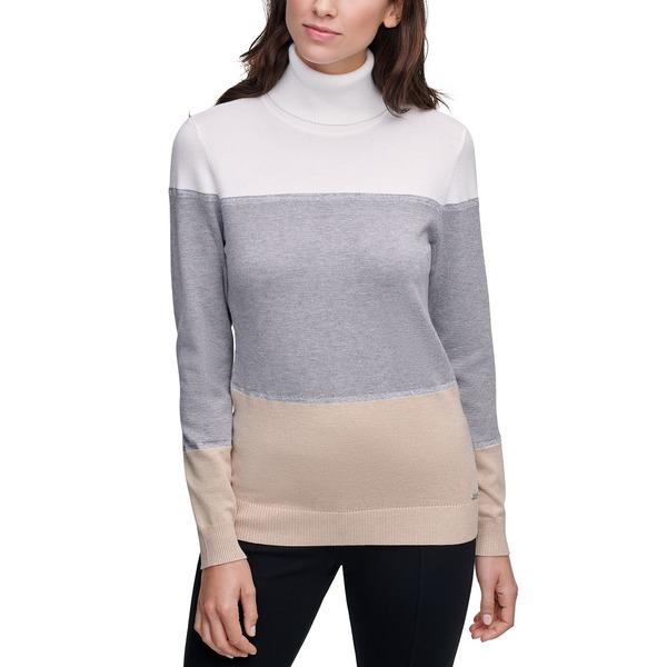 ニット&セーター Plus レディース Colorblocked カルバンクライン Sweater Size Turtleneck Combo Winter アウター