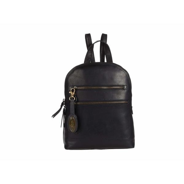 ボーン レディース バックパック・リュックサック バッグ Addams Leather Backpack Black
