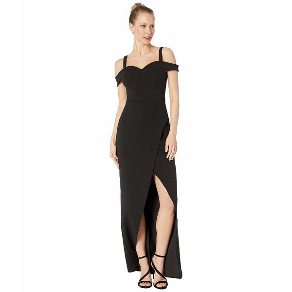 ビーシービージーマックスアズリア レディース ワンピース トップス Cold-Shoulder Gown Dress Black