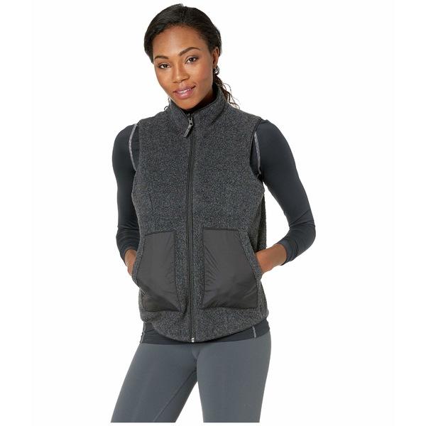 スマートウール レディース コート アウター Anchor Line Reversible Sherpa Vest Charcoal