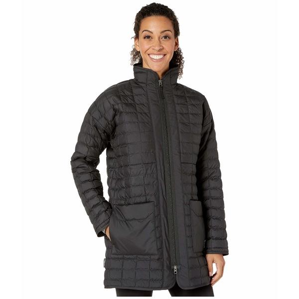 ノースフェイス レディース コート アウター ThermoBall Eco Long Jacket TNF Black Heather