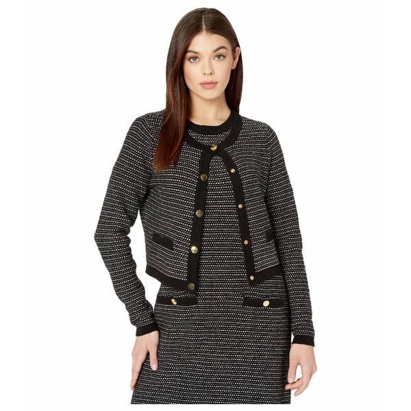 ミリー レディース ニット&セーター アウター Tweed Knit Cropped Cardigan Black Multi