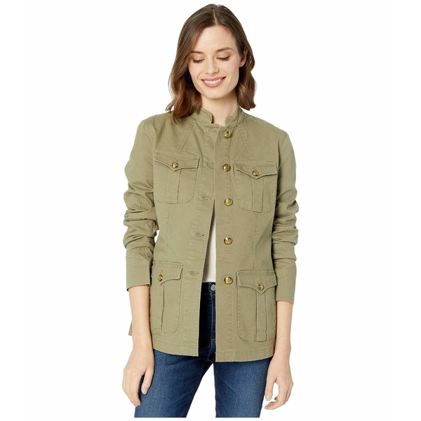 ラルフローレン レディース コート アウター Stretch-Cotton Canvas Jacket Dry Olive