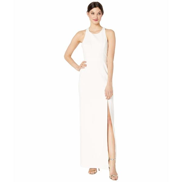 ビーシービージーマックスアズリア レディース ワンピース トップス Long Woven Evening Dress Off-White