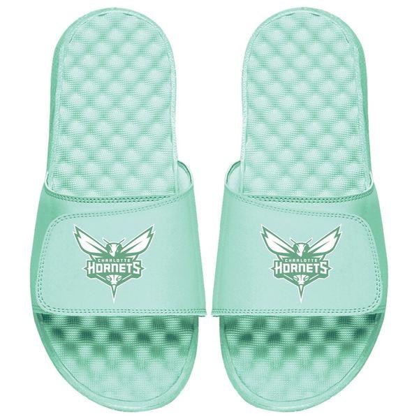アイスライド メンズ サンダル シューズ Charlotte Hornets ISlide Seafoam Collection Slide Sandals Mint Green