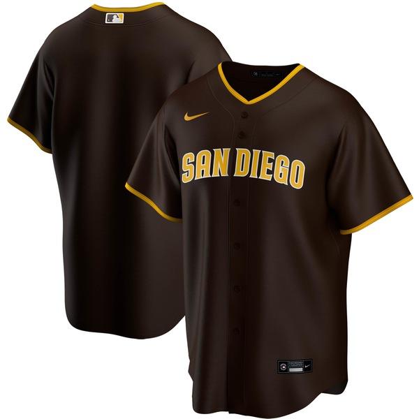 ナイキ メンズ ユニフォーム トップス San Diego Padres Nike Home 2020 Replica Team Jersey White/Brown