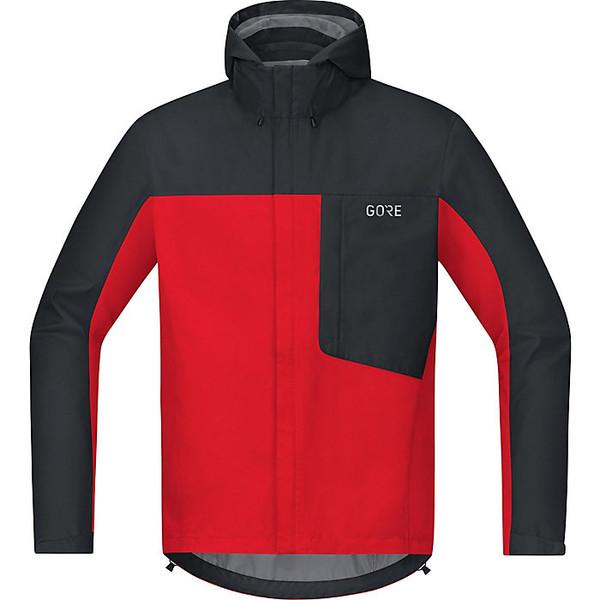 ゴアウェア メンズ ジャケット&ブルゾン アウター Gore Wear Men's Gore C3 GTX Paclite Hooded Jacket Red / Black