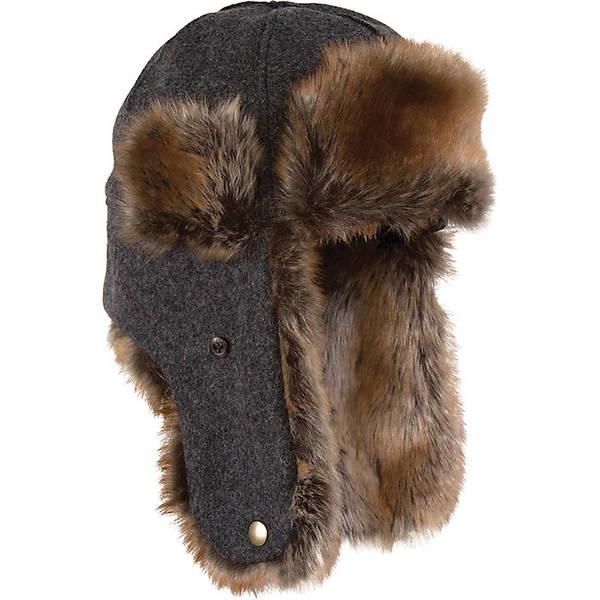 ストーミー クローマー メンズ 帽子 アクセサリー Stormy Kromer The Northwoods Trapper Hat Charcoal