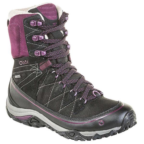 オボズ レディース ハイキング スポーツ Oboz Women's Juniper 8IN Insulated BDry Boot Eclipse Black / Beet