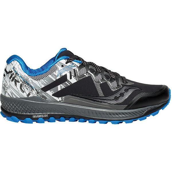 サッカニー メンズ ランニング スポーツ Saucony Men's Peregrine 8 ICE+ Shoe Black / White / Blue