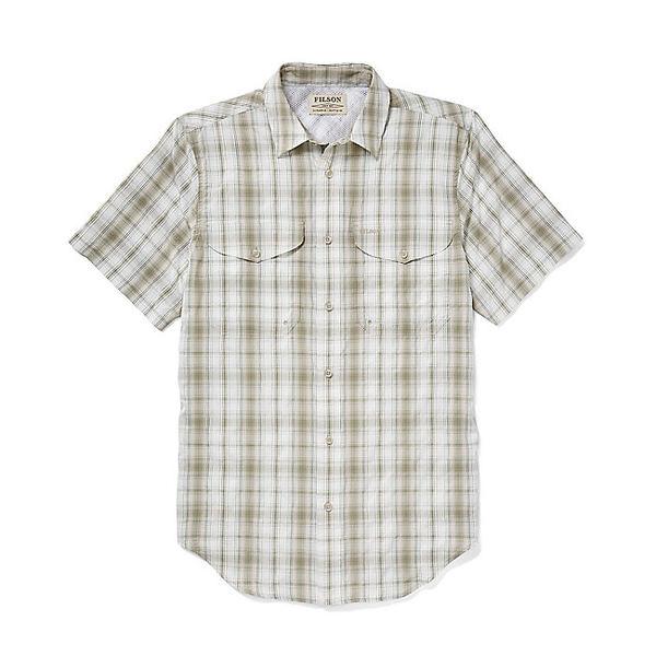 フィルソン メンズ ハイキング スポーツ Filson Men's Twin Lakes Sport SS Shirt Cream / Khaki / Green Plaid