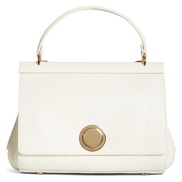 ジャンバティスタ ヴァリ レディース ハンドバッグ バッグ Giambattista Valli Grained Calfskin Leather Top Handle Bag (Nordstrom Exclusive) Milk/ Gold
