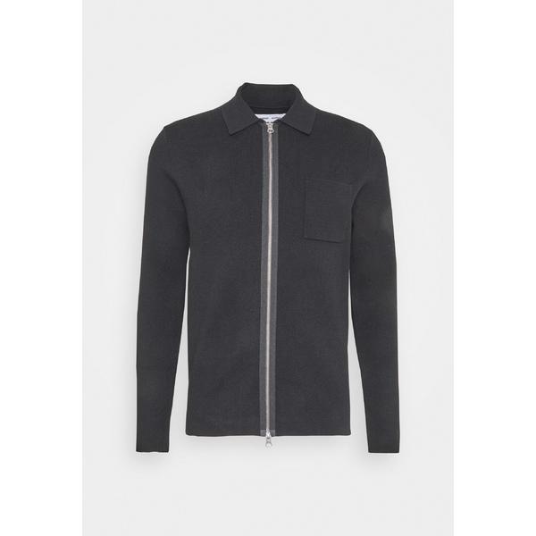 サムスサムス メンズ アウター カーディガン black 正規認証品 新規格 全商品無料サイズ交換 - axfl0193 高級な Cardigan GUNA ZIP