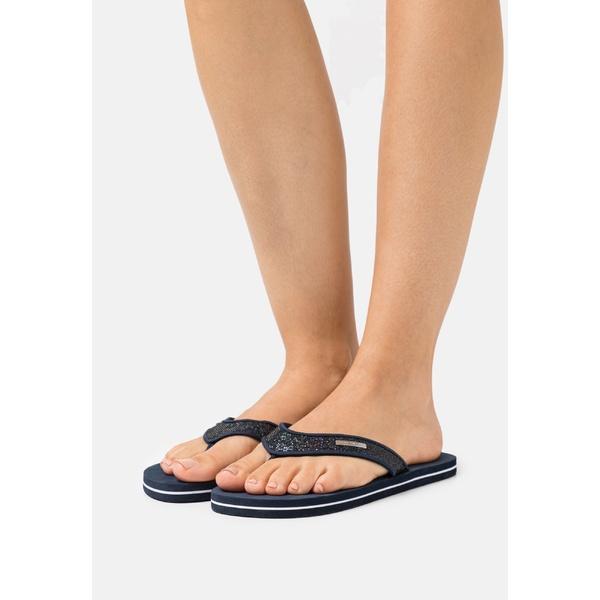 捧呈 トムテイラー レディース シューズ サンダル navy axfl0199 - sandals T-bar 年間定番 全商品無料サイズ交換
