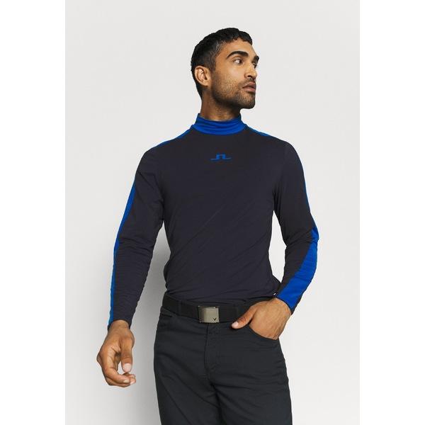 ジェイ リンドバーグ メンズ キャンペーンもお見逃しなく 送料無料(一部地域を除く) トップス カットソー navy 全商品無料サイズ交換 SASHA NECK Sports LIGHT shirt axfl019a - CREW MID