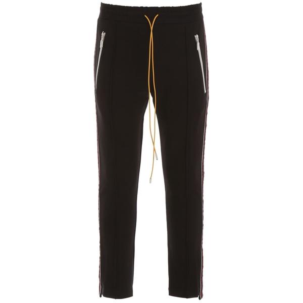 ルード メンズ カジュアルパンツ ボトムス Rhude Trousers With Lurex Side Bands BLACKREDBlack