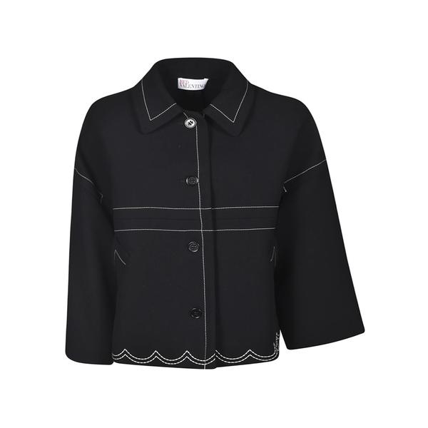 レッドヴァレンティノ レディース ジャケット&ブルゾン アウター RED Valentino Oversized Jacket Black