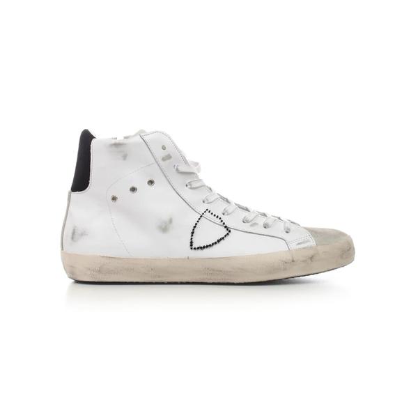 フィリップモデル メンズ スニーカー シューズ Philippe Model Sneakers Paris H U VeauMixageBlancGris