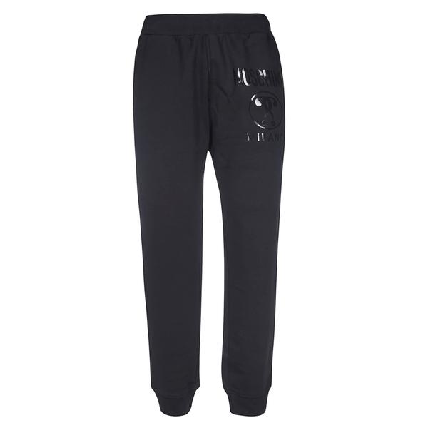 モスキーノ メンズ カジュアルパンツ ボトムス Moschino Logo Print Track Pants Black