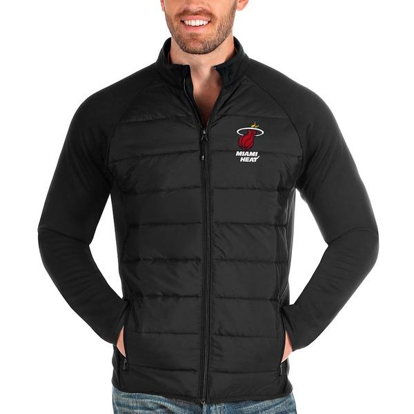 アンティグア メンズ ジャケット&ブルゾン アウター Miami Heat Antigua Altitude Full-Zip Jacket Black