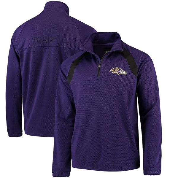 カールバンクス メンズ ジャケット&ブルゾン アウター Baltimore Ravens G-III Sports by Carl Banks High Impact Half-Zip Jacket Purple